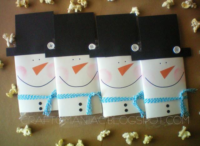 DIY Holiday Gift Idea: Popcorn Snowmen