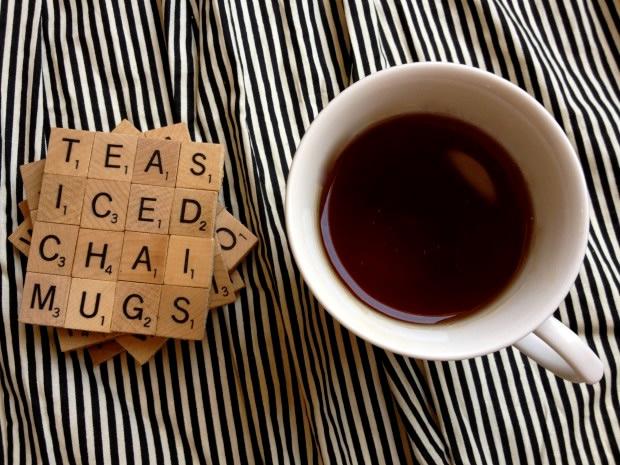 DIY Holiday Gift Idea: Scrabble Coasters