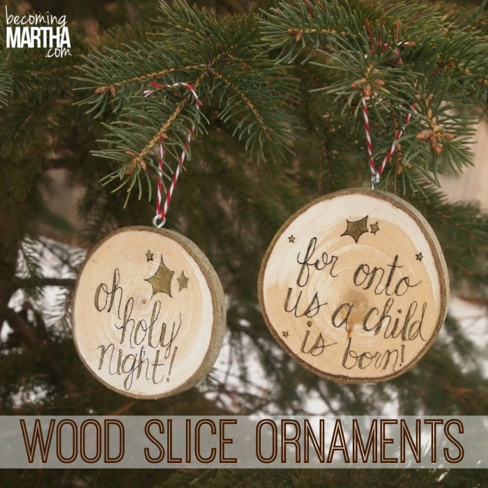 DIY Holiday Gift Ideas: Wood Slice Ornaments
