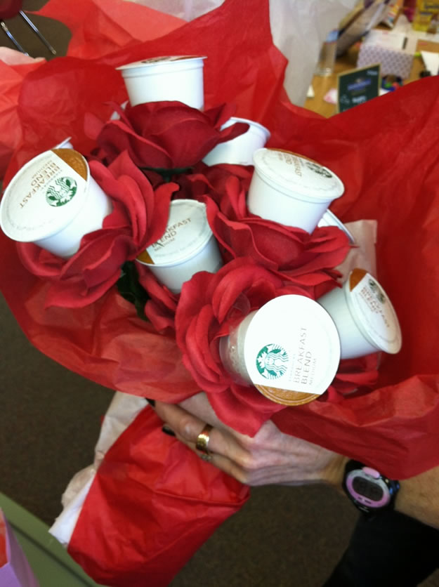 Homemade Valentine's Day Gifts: Coffee Bouquets