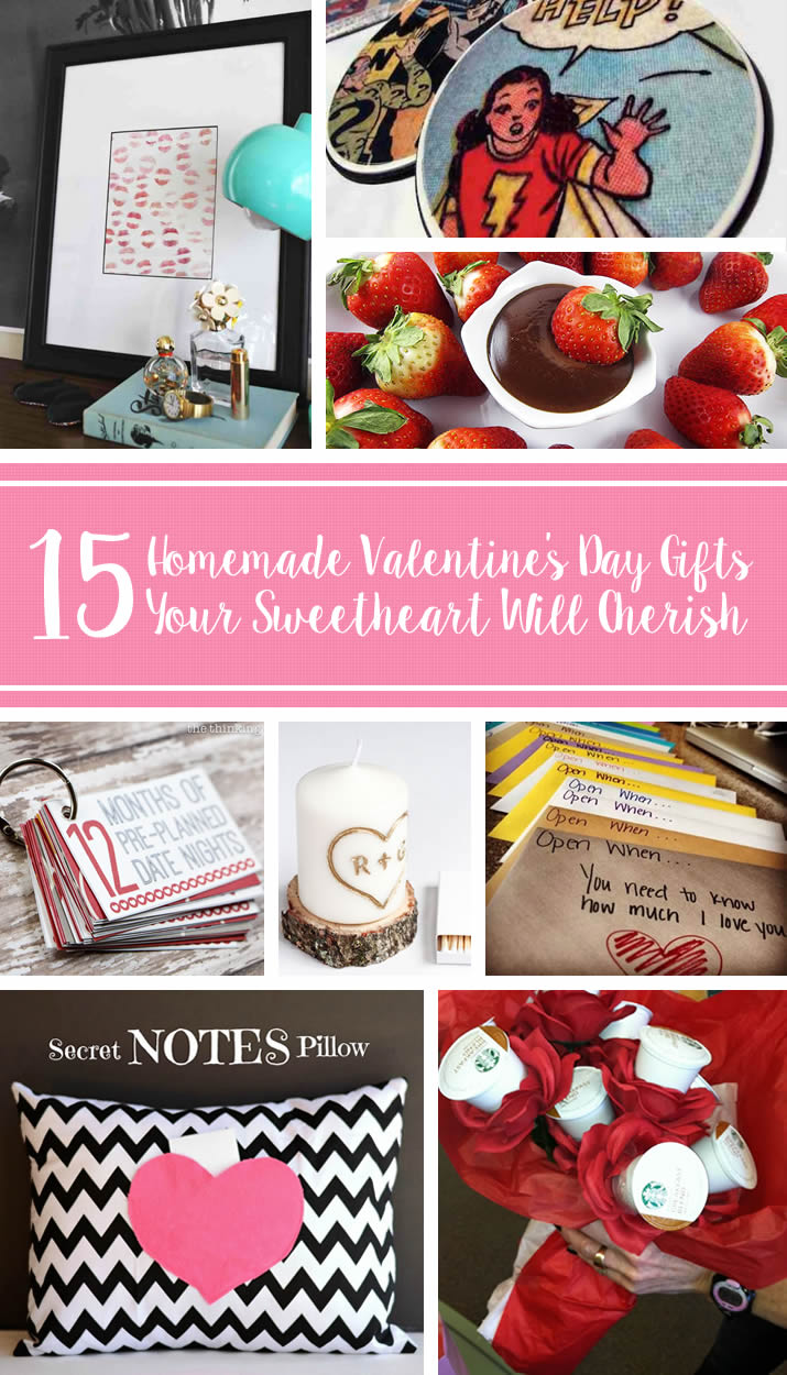 15 Homemade Valentine's Day Gifts Your Sweetheart Will Cherish: Need some helping finding the perfect