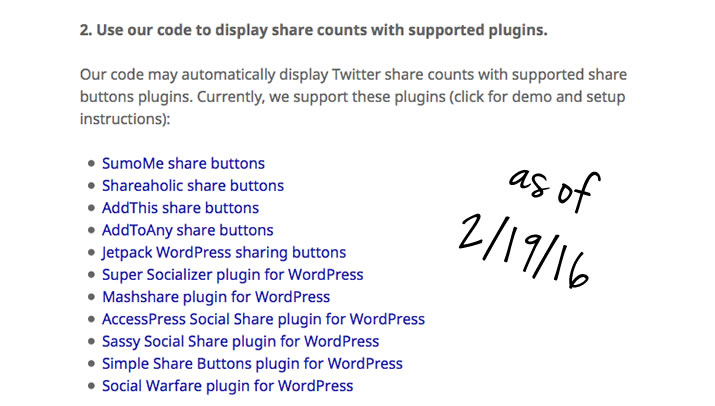 Get Your Twitter Share Counts Back: Social Plug-Ins Supported