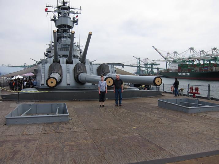 Battleship Iowa in San Pedro, CA